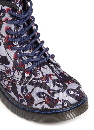 Detail View - Click To Enlarge - Dr. Martens - 'Brooklee' Marceline print canvas toddler boots