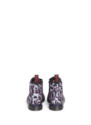 Back View - Click To Enlarge - Dr. Martens - 'Brooklee' Marceline print canvas toddler boots