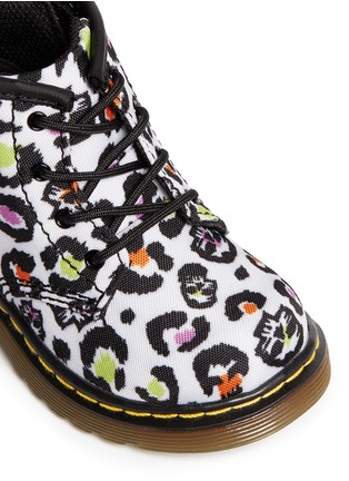 Detail View - Click To Enlarge - Dr. Martens - 'Brooklee B' skull leopard print canvas infant boots