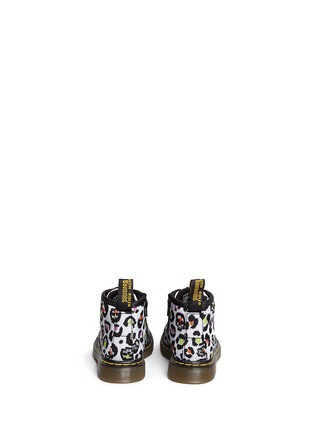 Back View - Click To Enlarge - Dr. Martens - 'Brooklee B' skull leopard print canvas infant boots