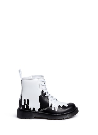 Main View - Click To Enlarge - Dr. Martens - 'Delaney' paint splat print leather junior boots