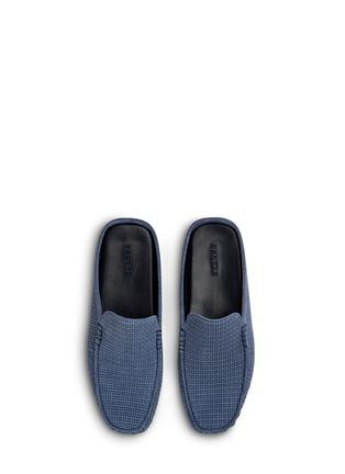 Main View - Click To Enlarge - Frette - Morris suede basketweave men's slippers