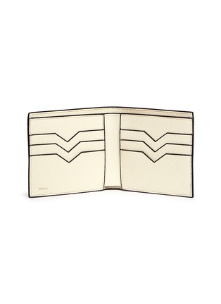 - Valextra - Leather bifold wallet – White