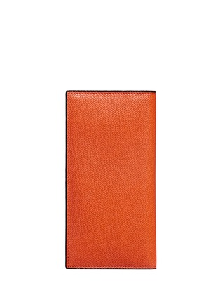 Back View - Click To Enlarge - Valextra - Vertical leather wallet