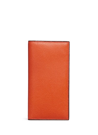 Main View - Click To Enlarge - Valextra - Vertical leather wallet