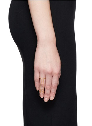Figure View - Click To Enlarge - MARIA BLACK - 'Nomi' double chain ring