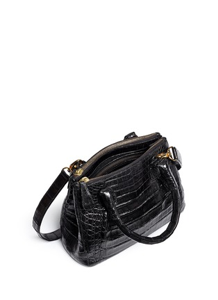 Detail View - Click To Enlarge - Nancy Gonzalez - Crocodile leather small crossbody bag