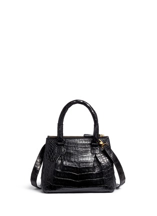 Back View - Click To Enlarge - Nancy Gonzalez - Crocodile leather small crossbody bag