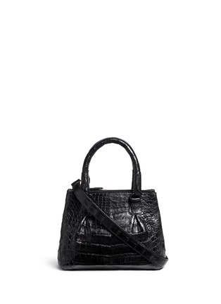 Main View - Click To Enlarge - Nancy Gonzalez - Crocodile leather small crossbody bag