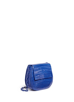 Figure View - Click To Enlarge - Nancy Gonzalez - Crocodile leather interchangeable strap round crossbody bag