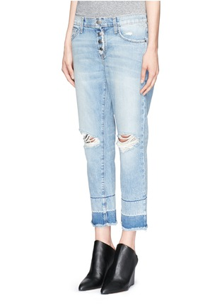 Front View - Click To Enlarge - Current/Elliott - 'The Fling' exposed button fly jeans