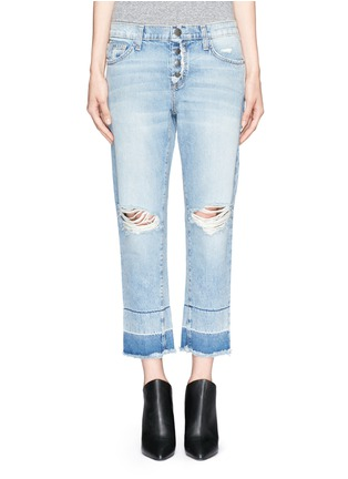 Main View - Click To Enlarge - Current/Elliott - 'The Fling' exposed button fly jeans