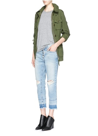 Figure View - Click To Enlarge - Current/Elliott - 'The Fling' exposed button fly jeans