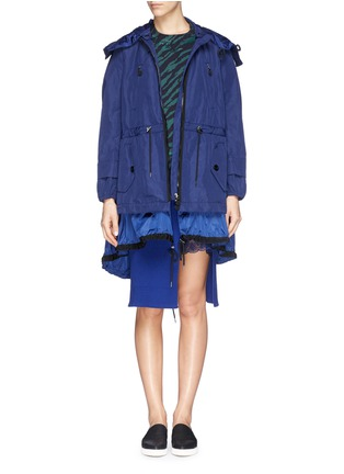 Main View - Click To Enlarge - Moncler - 'Charline' ruffle nylon hem windbreaker jacket