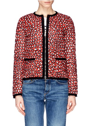 Main View - Click To Enlarge - Moncler - 'Miel' funky leopard print reversible down jacket