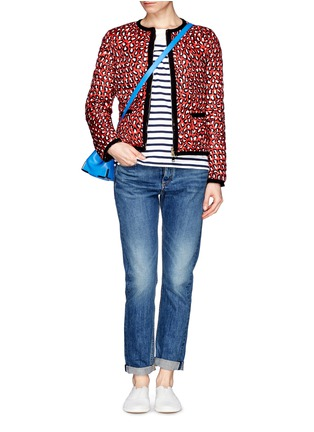 Figure View - Click To Enlarge - Moncler - 'Miel' funky leopard print reversible down jacket