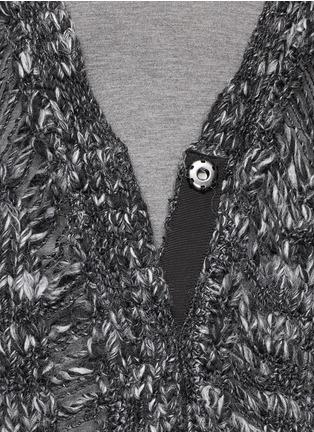 Detail View - Click To Enlarge - Elizabeth and James - Drop stitch wool-alpaca cardigan