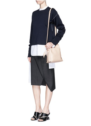 Figure View - Click To Enlarge - Loewe - 'Flamenco Knot' small leather tote bag