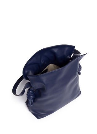 Detail View - Click To Enlarge - LOEWE - 'Flamenco Knot' small leather tote bag