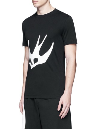 Front View - Click To Enlarge - McQ Alexander McQueen - Swallow skull print T-shirt