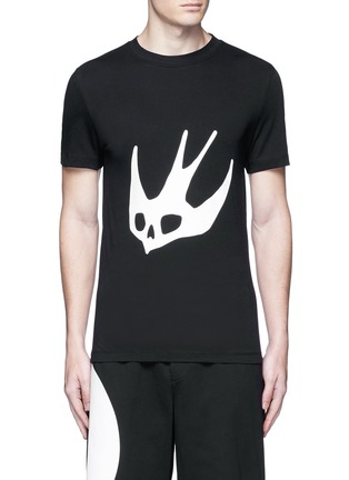 Main View - Click To Enlarge - McQ Alexander McQueen - Swallow skull print T-shirt