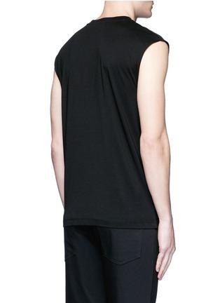 Back View - Click To Enlarge - McQ Alexander McQueen - 'Swallow' slogan print sleeveless T-shirt