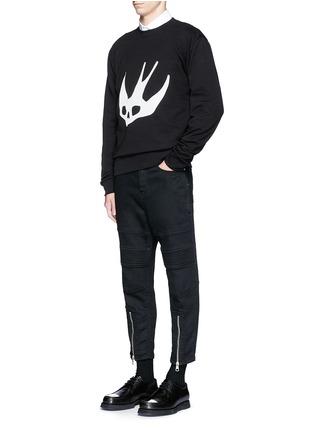 Figure View - Click To Enlarge - McQ Alexander McQueen - Swallow skull print sweatshirt