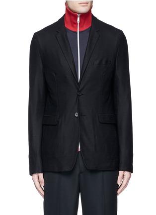 Main View - Click To Enlarge - McQ Alexander McQueen - 'Curtis' wool piqué soft blazer