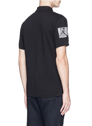 Back View - Click To Enlarge - McQ Alexander McQueen - 'Swallow' woodcut tribal print polo shirt