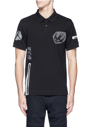 Main View - Click To Enlarge - McQ Alexander McQueen - 'Swallow' woodcut tribal print polo shirt