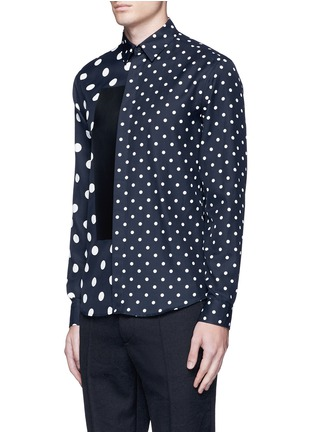 Front View - Click To Enlarge - McQ Alexander McQueen - Polka dot block print shirt