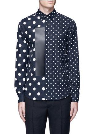 Main View - Click To Enlarge - McQ Alexander McQueen - Polka dot block print shirt