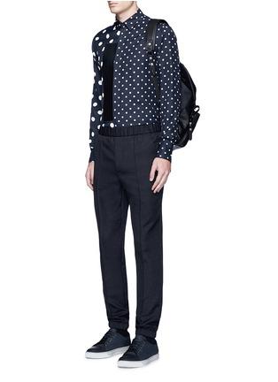 Figure View - Click To Enlarge - McQ Alexander McQueen - Polka dot block print shirt