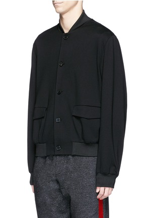 Front View - Click To Enlarge - McQ Alexander McQueen - Jersey blouson jacket