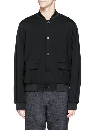 Main View - Click To Enlarge - McQ Alexander McQueen - Jersey blouson jacket