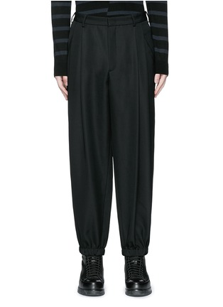 Main View - Click To Enlarge - McQ Alexander McQueen - Relaxed fit pleat front wool pants
