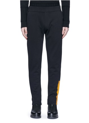 Main View - Click To Enlarge - McQ Alexander McQueen - Block print French terry sweatpants