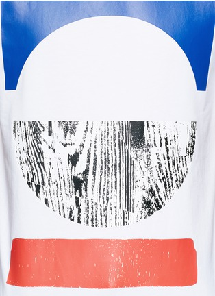 Detail View - Click To Enlarge - McQ Alexander McQueen - Tribal woodcut block print T-shirt