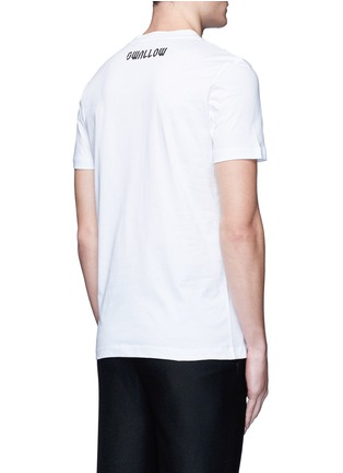 Back View - Click To Enlarge - McQ Alexander McQueen - Swallow skull print cotton T-shirt