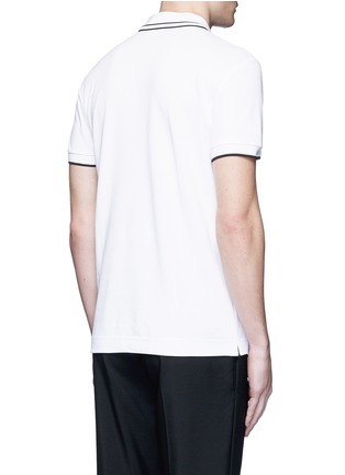 Back View - Click To Enlarge - McQ Alexander McQueen - Swallow skull patch appliqué polo shirt
