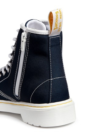Detail View - Click To Enlarge - Dr. Martens - 'Delaney' canvas junior boots