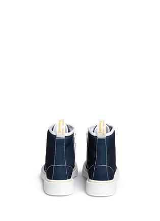 Back View - Click To Enlarge - Dr. Martens - 'Delaney' canvas junior boots