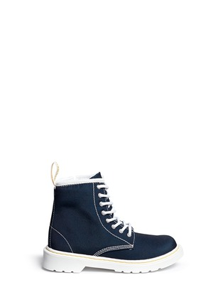 Main View - Click To Enlarge - Dr. Martens - 'Delaney' canvas junior boots