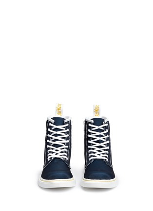 Figure View - Click To Enlarge - DR. MARTENS - 'Delaney' canvas junior boots