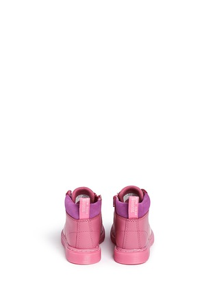 Back View - Click To Enlarge - Dr. Martens - 'Bonbon I' Princess Bubblegum print leather toddler boots