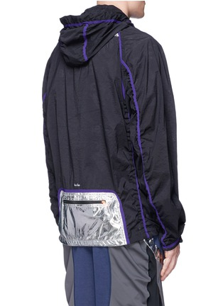 Back View - Click To Enlarge - 72896 - Perforated nylon hood jacket