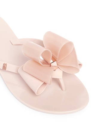 Detail View - Click To Enlarge - MELISSA - 'Harmonic' bow slipper sandals