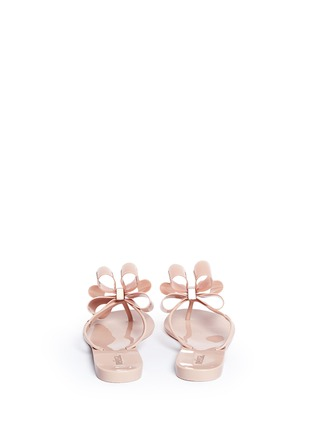 Back View - Click To Enlarge - MELISSA - 'Harmonic' bow slipper sandals