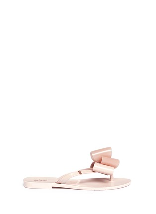 Main View - Click To Enlarge - Melissa - 'Harmonic' bow slipper sandals