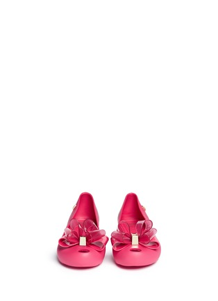 Figure View - Click To Enlarge - Melissa - 'Ultragirl Sweet Ballerina' bow kids flats